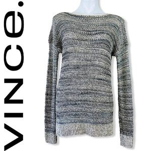 ❤️ Vince Marled Open Knit Drop Shoulder Sweater XS